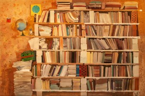 O. Hnylytskyi Book Shelves'. From the series 'Dacha', 2005, oil on canvas