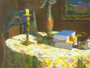Still Life With Books, 1974, 50x70