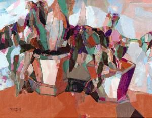 Flowers, 2008, oil on masonite, 60x80