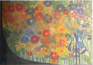 Flowers, 1981, oil on canvas, 87x148