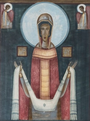 S. Kazanivska The Virgin of the Intercession', board, tempera, 30x20