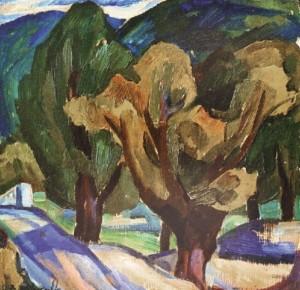 Осіннє дерево, 1985, 43,5х40