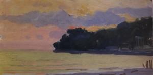 Захід сонця в Хості, 1956, к.о. 12х24,5
