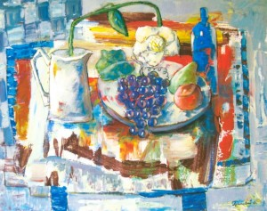 Still Life With White Flower, 2007, acrylic on canvas, 80x100