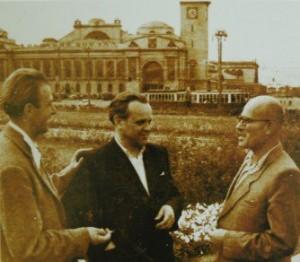 V. Habda, V. Sabov, G. Gluck in Moscow, 1956