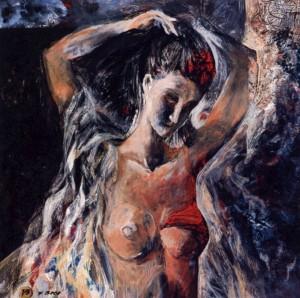 Morning - Etude, 1998, acrylic on cardboard, 50x50