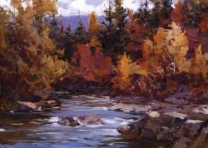 Гірська річка, 2011, п.о., 70х90