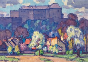 Uzhhorod Castle, 1971, oil on canvas, 65х90