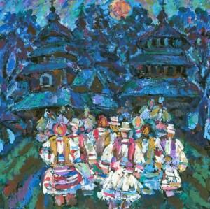 Герц Ю. Біля церкви, 2010, п.т., 90х90