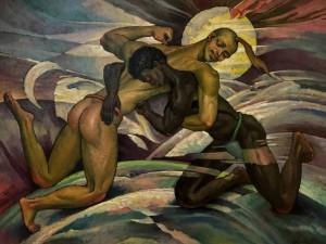'Білобог і Чорнобог', 2008, п.о., 60х80