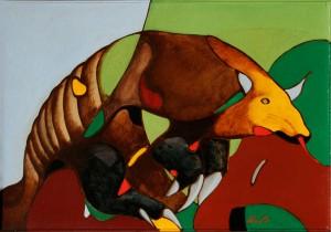'Любов хамелеона до риби', п.о., 48х69
