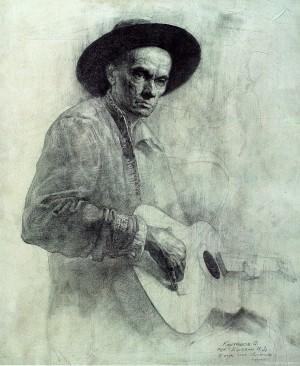 Гітарист, 2002, 50x40