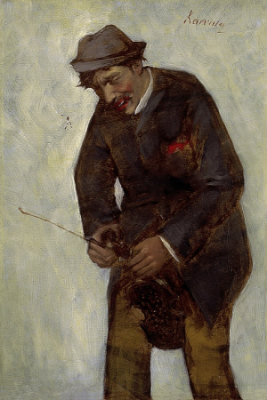 Tuning up The Violin, oil on canvas, 37х24,5