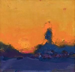 A. Kryvolap Evening silhouette, 2009, c.о. 32х32