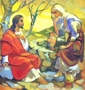 Зустріч із самаритянкою, 2005, п.о., 50х50