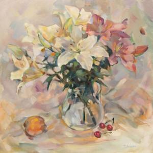 Натюрморт Лілії, 2012, п.о., 65х60