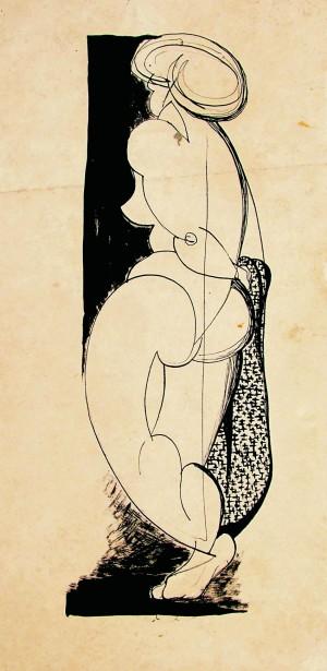 Nude paper ink, 1963