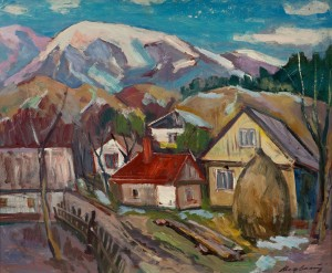 Village In The Mountains, oil on canvas, 85х71