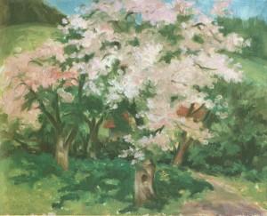 Цвітуть яблуні, 2006, п.о., 40х50