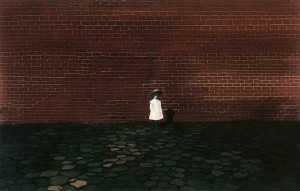 The Girl In Front Of The Wall