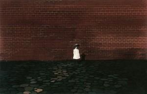 Дівчинка перед стіною