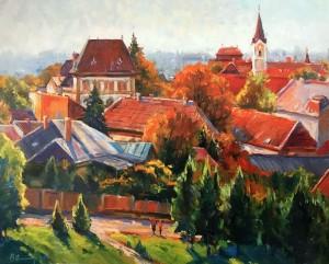 Осінній Ужгород, 2014, п.о., 81х100