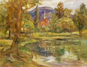 Karpaty Sanatorium, 1990, oil on canvas, 54х70