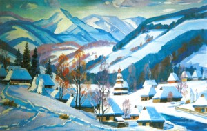 Verkhovyna, 1999, oil on canvas, 85x145