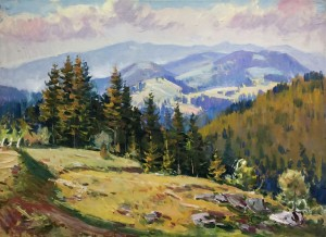 'Verechanskyi Pass', oil on canvas, 75x90