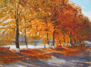 Липова алея в Ужгороді, 2010, п.о., 50х65
