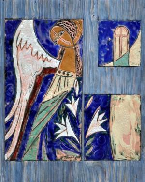 Гавриїд, дерево, мідь, гаряча емаль, 53х66