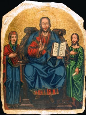 Christ The Master With The Virgin Mary And John The Baptist'