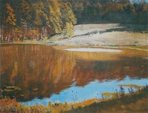 Осінь біля гірського озера, 1983, п.о., 95х70
