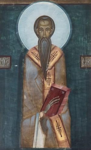 S. Kazanivska St. Basil', board, tempera, 30x20