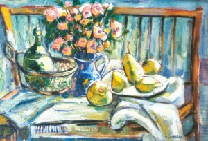 Still Life With Yellow Pears, 2005, oil on canvas, 60x80