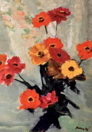 Flower Still Life, 1980, oil on cardboard, 57х40,5