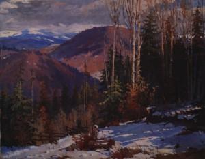 Зима в горах. Доманинці, 1952, п.о. 92х134