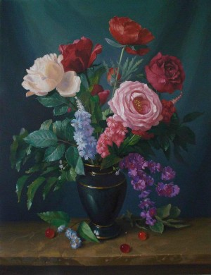 Квіти в чорній вазі, 2009, 65х50