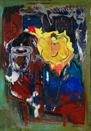 Still Life With Yellow Flower, 2012, acrylic on canvas, 100x80