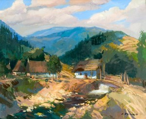 In the Carpathians, 2003, oil on canvas, 70x80