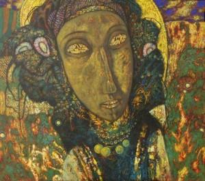 Ганнуся. Карпатська перлина, 1999,  т.двп, левкас, жовткова емульсія