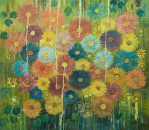 Flower Riot, 2002, oil on canvas, 77,8х88,5