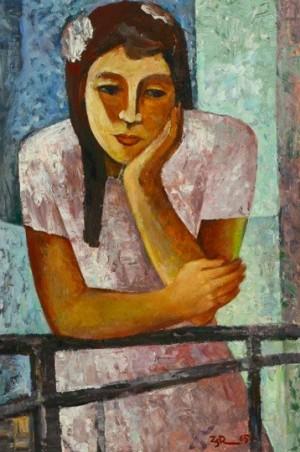 'На балконі', 1965, 70х49