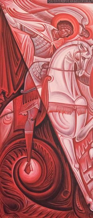 Kost Markovych Yurii Snake Fighter', board, acrylic, 30x70
