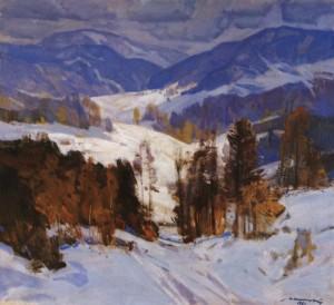 Зима в Карпатах, 1981, п.о. 100х110
