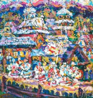 Wedding Motive, 1999, tempera on canvas, 90х80
