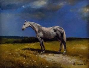 O. Lypchei. Horse, 2017