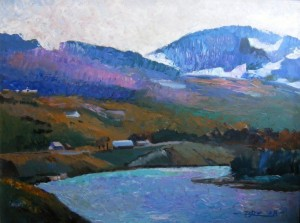 'Над річкою', 60х80