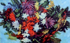 Flowers, 1980, oil on canvas, 68x107