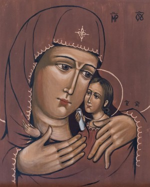 T. Kupliak Virgin of Kasperivska', board, tempera, 30x37